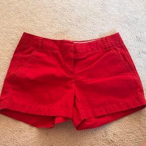 Red J. Crew Chino Shorts